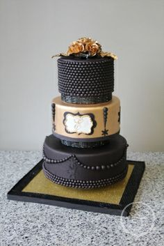 Wedding Cake by Tiffany Ermon made as part of The French Pastry School's L'Art du Gâteau program.