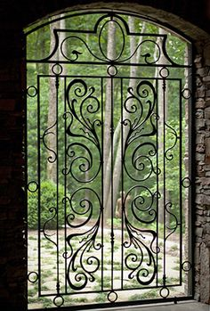 Garden gate, grotto gate | The Heirloom Companies | Hand Forged Design