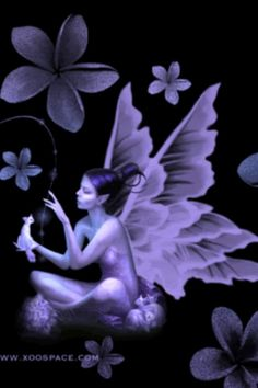 Beautiful Purple Fairy with Butterfly wings Fairy Dust, Fairy Land, Fairy Tales, Fantasy Creatures, Mythical Creatures, Woodland Creatures, Fantasy World, Fantasy Art, Fantasy Fairies