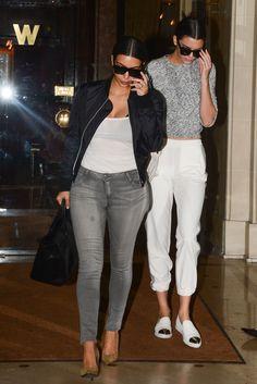 10 July 2014. Kim and Kendall leaving The Westminister Hotel In Paris. #kardashian #kardashians #jenner #paparazzi #kim #kourtney #khloe #kris #kendall #kylie #bruce #rob #kanye #west #scoot #disick #mason #penelope