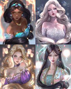 Disney Princesses And Princes, Disney Princess Drawings, Disney Princess Art, Disney Princess Pictures, Disney Pictures, Disney Drawings, Anime Disney, Disney Pixar, Disney Artwork
