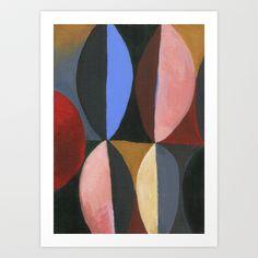 Retro Abstract Painting Art Print by Michelle Schwartzbauer - $18.00