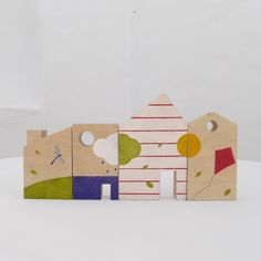 Spring houses toy, eco friendly kids game, spring wooden toy for play and kids room decor on Etsy Wooden Blocks Toys, Wood Toys, Wooden Houses, Handmade Baby, Handmade Toys, Electronic Toys, Noel Christmas, Diy Toys, Kids Furniture