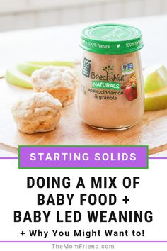 Introducing baby food to your infant doesn't have to be one way only. Here are some reasons why starting solids can work well with both baby purees and table food used together, and how to use baby food to make healthy and easy muffins for babies. Baby Led Weaning, Weaning Toddler, Baby Puree Recipes, Baby Food Recipes, Food Baby, Kid Recipes, Meal Recipes, Baby Toys, Baby Baby