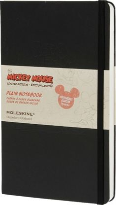 Moleskine Mickey Mouse Limited Edition Large Plain Notebook Hard : Disney Limited Edition by Moleskine (9788866137917) | hive.co.uk
