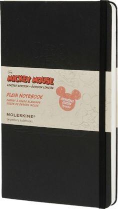 Moleskine Mickey Mouse Limited Edition Large Plain Notebook Hard : Disney Limited Edition by Moleskine (9788866137917) | hive.co.uk