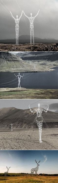 Funny pictures about Electric Poles In Iceland. Oh, and cool pics about Electric Poles In Iceland. Also, Electric Poles In Iceland photos. Land Art, Street Art, Drawn Art, Wow Art, Art Plastique, Public Art, Oh The Places You'll Go, Oeuvre D'art, Installation Art