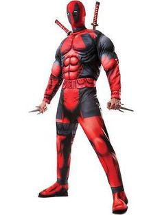 Adult mens #deluxe deadpool muscle chest fancy #dress costume marvel #comic book,  View more on the LINK: http://www.zeppy.io/product/gb/2/351657140629/