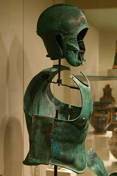 South Italian variant of Chalcidian helmet and muscle cuirass