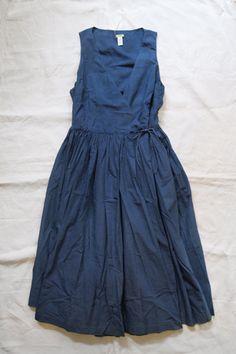 blue dress-www.blissfulbblog.com Linen Dresses, Blue Dresses, Summer Dresses, Indigo Dress, Ethno Style, Look Chic, Dress Me Up, Get Dressed, Dress Skirt