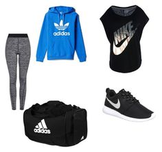 """""""Workout outfit"""" by madsroye on Polyvore featuring interior, interiors, interior design, home, home decor, interior decorating, Topshop, adidas and NIKE"""