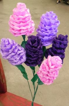 Set of 6 Mexican paper flowers made by Julia. They are individually hand made out of crepe paper. This order includes 2 lavender, 2 purple and 2 pink flowers. We make special orders on size and color. Dimensions: 5 long X 3 wide approximately . Mexican Paper Flowers, Paper Flower Decor, Tissue Paper Flowers, Felt Flowers, Flower Crafts, Diy Flowers, Flower Decorations, Flower Pots, Potted Flowers