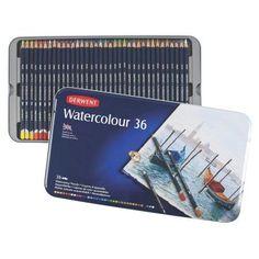 Derwent Water Color Pencils, 36-Count (32885), Multicolor