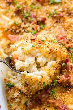 Macaroni and Cheese is the most genius recipe ever created and this cheesy chicken bacon ranch macaroni and cheese is coming in a close second place.