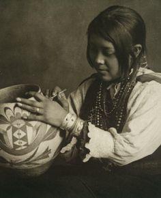 +~+~ Antique Photograph ~+~+   The Pottery Maker ~ Nampeyo. Circa 1910.