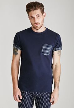 Polka Dot Pocket Tee | 21 MEN | #f21men