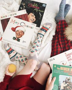 """Nursing our colds with plenty of orange juice and comfy pjs in bed, while playing some of our favorite Christmas tunes. Here's to hoping The Beach Boys…"""