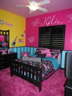 Modern teenage bedroom decorating ideas