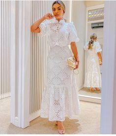 Frock Design, Casual Dresses, Fashion Dresses, Dresses For Work, Long Dresses, Vestidos Color Blanco, Best African Dresses, Little White Dresses, Flower Dresses