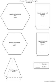 Printable hexagon templates for your creative craft or