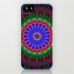 Mandala Colorexplosion iPhone & iPod Case by Christine baessler - $35.00