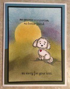 Bella & Friends Stampin'Up Sympathy dog card Stampin'Up 2016-2017