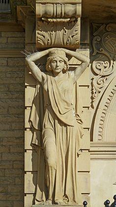 Caryatid at Ossett Town Hall