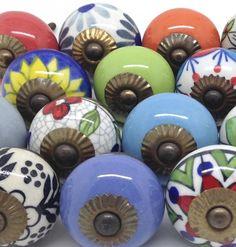 Z44 Set of 20 Mixed Ceramic Knobs [Z44] - £49.99 : These Please Ltd