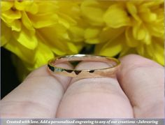 ═ Hammered Stackable Ring ═ ✧Material Options: Rose Gold Yellow Gold White Gold ✧Ring Width: approximately ✧Ring Thickness: approximately ✧Finish: Polished hammered ✧Top style: Flat ✧Interior style: Flat ✧If you have plans to give this as a gift, or Engraved Jewelry, Engraved Rings, Wedding Band Engraving, Platinum Wedding, Types Of Metal, Precious Metals, Wedding Bands, Gold Rings, White Gold