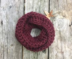 Ready To Ship Toddler Infinity Scarf Burgundy Toddler Crochet Infinity Scarf