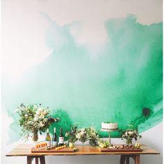 sticker effet aquarelle