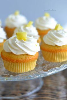 Cupcake ananas et noix de coco