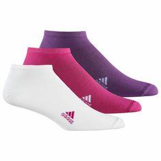 Einfache Sportsocken, 3 Paar, Vivid Berry / White / Tribe Purple