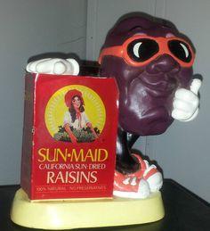 1987 Sun Maid Raisins California Raisin Bank Free Shipping ! #SunMaid