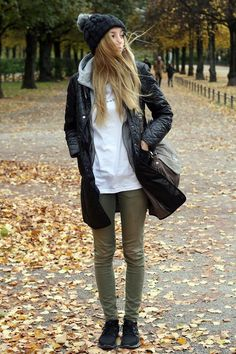 Shop this look on Kaleidoscope (jacket, hat, pants, sneakers)  http://kalei.do/WSjFzYZ0WN4EcVua