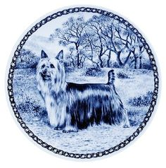 Australian Silky Terrier / Lekven Design Dog Plate 19.5 cm /7.61 inches Made in Denmark NEW with certificate of origin PLATE -7373 -- Check out this great product. (This is an affiliate link and I receive a commission for the sales) #Dogs
