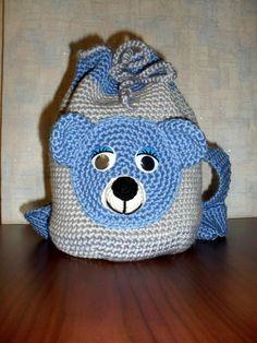 Crochet Baby Dress Free Pattern, Crochet Backpack Pattern, Graph Crochet, Baby Girl Crochet, Tote Pattern, Purse Patterns, Crochet Patterns Amigurumi, Handmade Kids Bags, Handmade Handbags