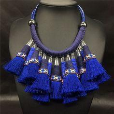 Big chunky colliers 2017 en cuir cordon choker collier indien collier boho collier ethnique tribal indien bijoux maxi collier