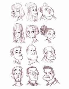Character Shape Sketching 2 (with video link) by LuigiL on DeviantArt Character Design Cartoon, Character Sketches, Character Design Animation, Cartoon Design, Character Design References, Character Drawing, Character Illustration, Cartoon Drawings Of People, Cartoon Sketches