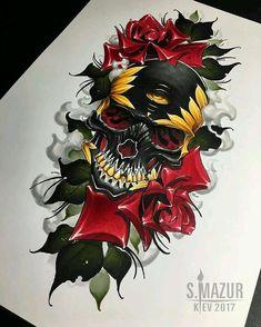 """4,709 """"Μου αρέσει!"""", 17 σχόλια - ART GALLERY (@skull_andbone) στο Instagram: """"By S. Mazur #skull #skulls #skulltattoo #sugarskull #skullart #skullcandy #skullring #skully…"""""""