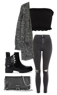 """""""Untitled #634"""" by petitaprenent on Polyvore featuring Topshop, Zadig & Voltaire and Zara"""