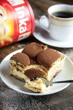 SEROWO-KAWOWE CIASTO Z INKĄ - bez pieczenia! Polish Desserts, Cookie Desserts, No Bake Desserts, Dessert Recipes, Lemon Cheesecake Recipes, Chocolate Cheesecake Recipes, Chocolate Desserts, Easy Blueberry Muffins, Vegan Junk Food
