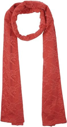 Flavio Castellani Red Lace Scarf $270 At Yoox Oblong red lace scarf cotton polyamide https://api.shopstyle.com/action/apiVisitRetailer?id=623413051&pid=uid841-37799971-81