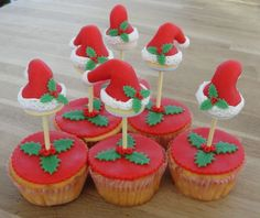 kerst lollie cupcakes