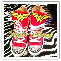 Custom Wonder Women Converse with Swarovski by TaylorsPenny, $110.00