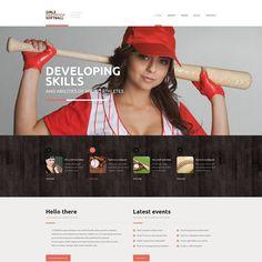 Website Theme for Sport Website Kids Sports, Sports Women, Theme Sport, Sports Scores, Sports Website, Web Design Software, Girls Softball, Fastpitch Softball, Layout