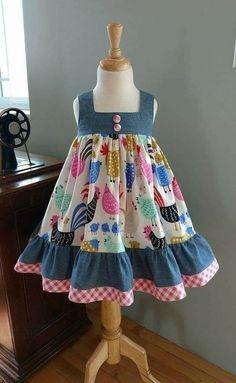 Sewing to children - patterns, needlework - Cute Outfits Kids Dress Wear, Kids Gown, Dress Girl, Gown Dress, Barbie Dress, Barbie Clothes, Kids Wear, Girls Frock Design, Baby Dress Design