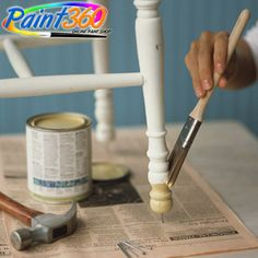 Paint Tips and Tricks: Want to make that old chair or table look new and vibrant again? Tap nails into the legs to give yourself easier access for painting.  #OnlinePaintSupplier