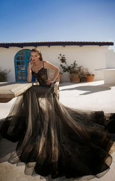 MOONSTRUCK-  A Breathtaking Collection Of Evening Dresses By Galia Lahav ---- Now that's a lot of skirt.