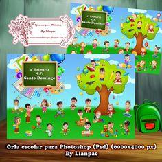 Recursos Photoshop Llanpac: Orla escolar infantil para Photoshop (Psd)